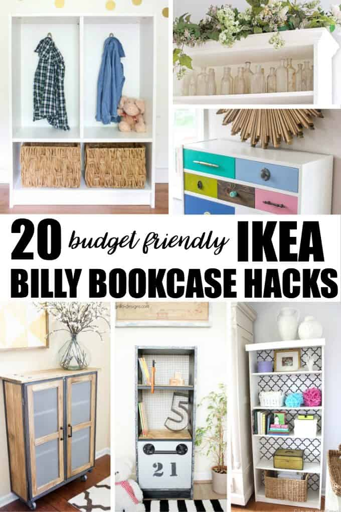 20 Budget Friendly IKEA Billy Bookcase Hacks - Give your new piece of furniture a new purpose and look!