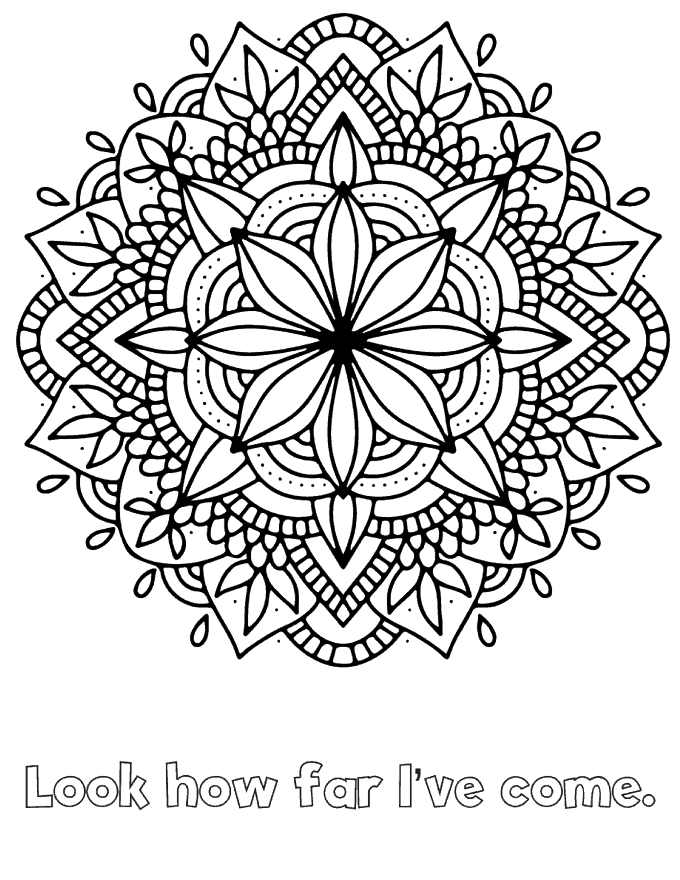 Mandalas to Reduce Anxiety Free Printable - Colouring mandalas is shown to help ease anxiety.
