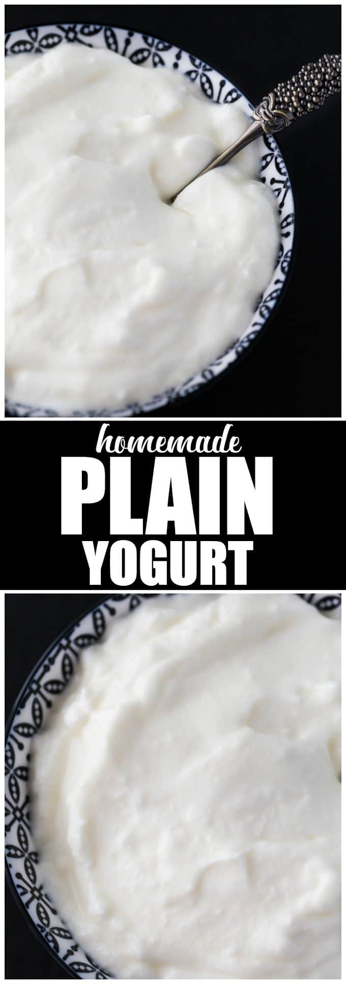 Homemade Plain Yogurt - Thick, creamy and tastes better than the storebought stuff!