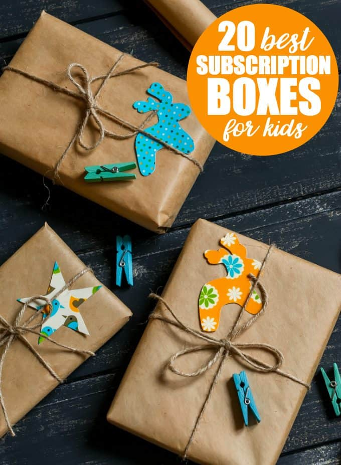 20 Best Subscription Boxes for Kids - These picks make an excellent last minute gift to entertain and educate kids for months to come!