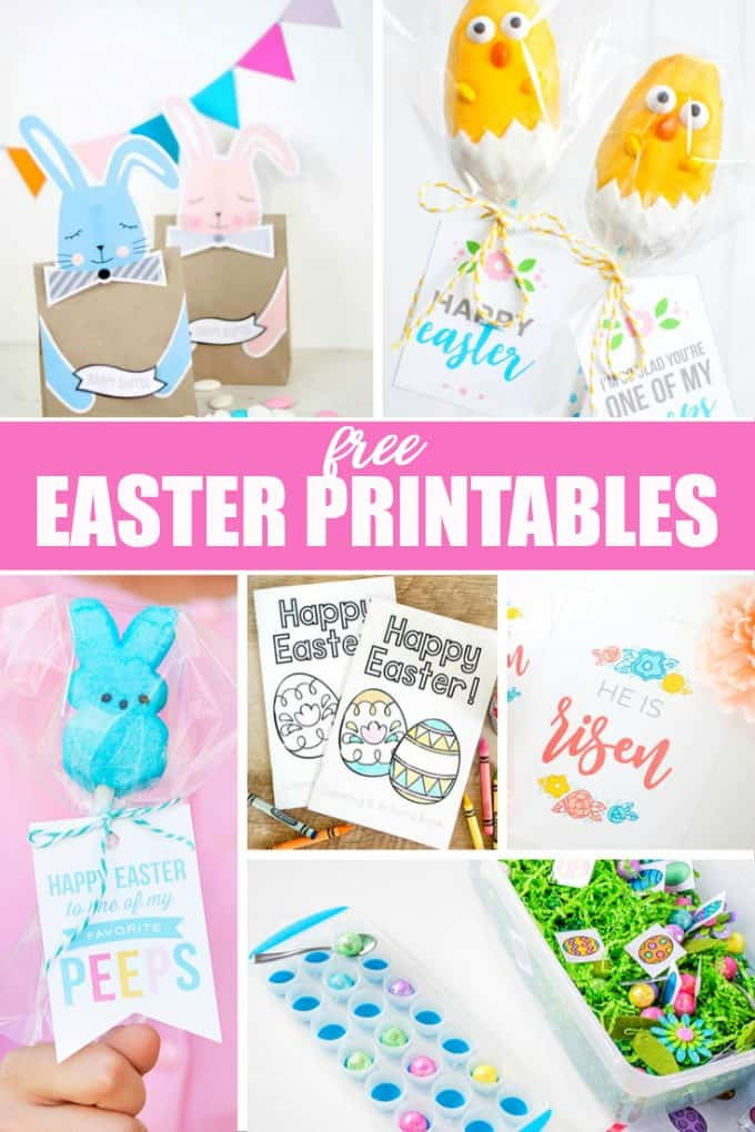 20 Free Easter Printables - Get your home ready for this special holiday with Easter decorations, colouring pages and games!