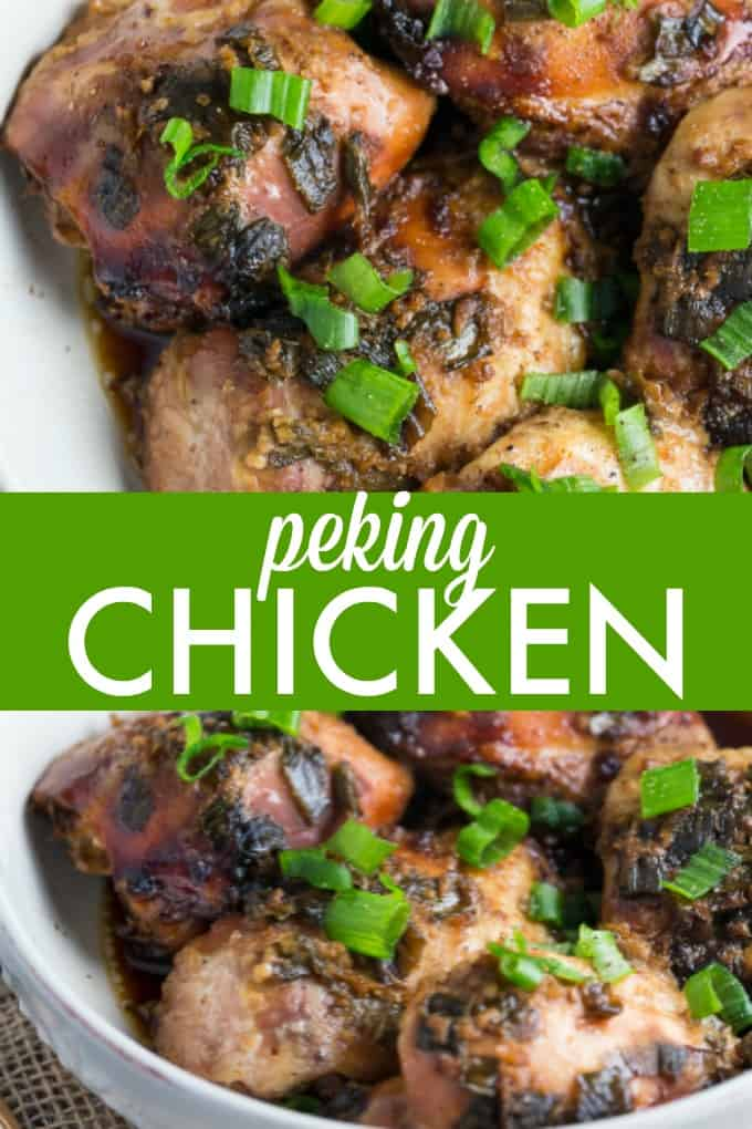 Peking Chicken - If you love Peking Duck, give the chicken version a try! It's tender, flavorful and cooked to perfection in the slow cooker.