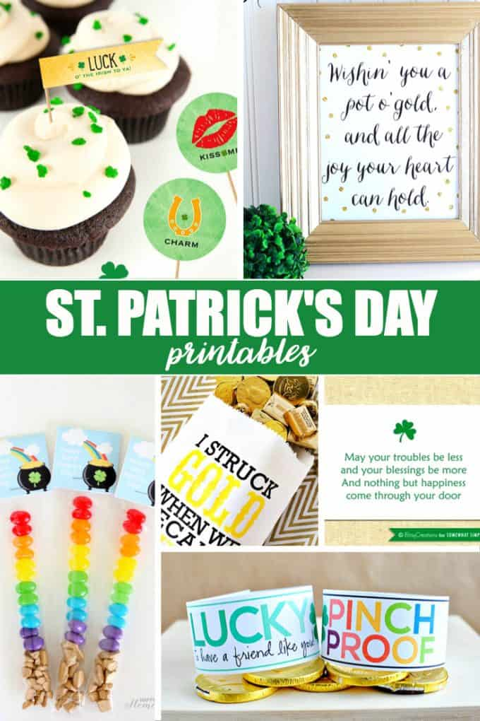 20 Free St. Patrick's Day Printables - Everything you need to get into the spirit of this special day!