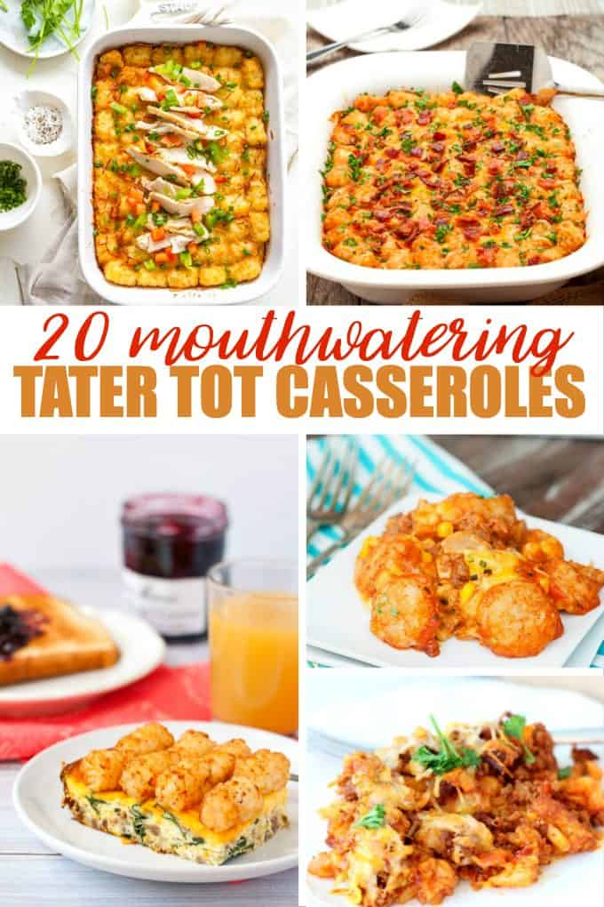 20 Mouthwatering Tater Tot Casseroles - Hearty, comforting and filling! These Tater Tot Casserole recipes will become an instant family hit.