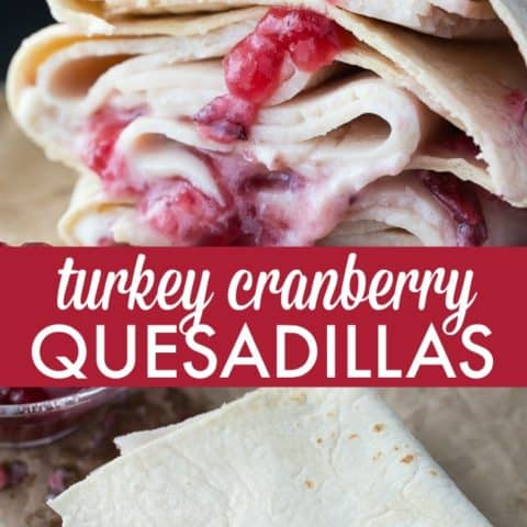 Turkey Cranberry Quesadillas