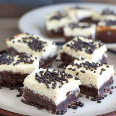 Cheesecake Squares with Chocolate Nut Crust