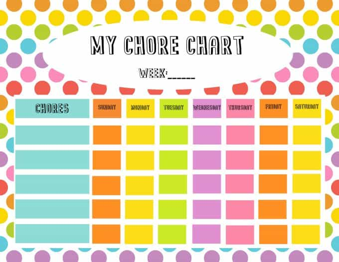 Free Chore Chart  Reward Tickets Printable  Simply Stacie