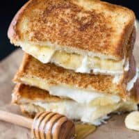 Honey Banana Grilled Cheese Sandwich