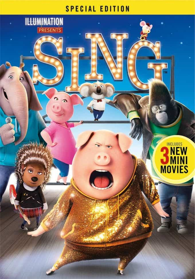 SING Special Edition is Coming to Digital HD & Blu-Ray/DVD #SingMovie #SingSquad