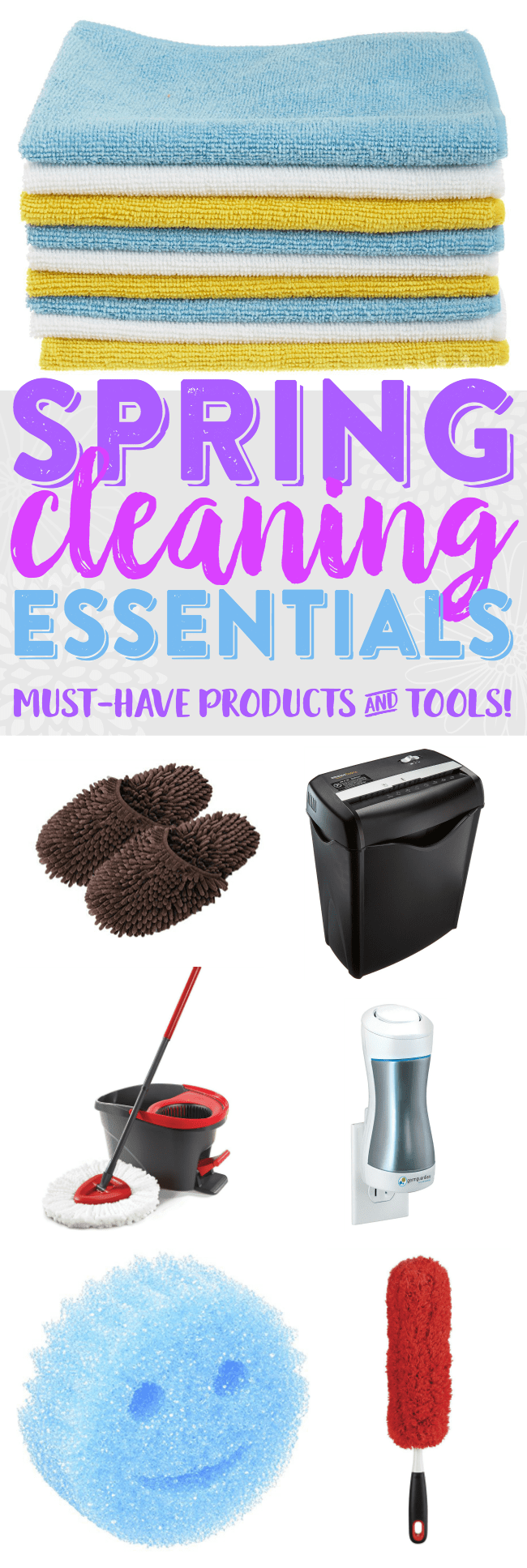 20 Spring Cleaning Essentials - These must-have products and tools will help you get your home looking its best for Spring!