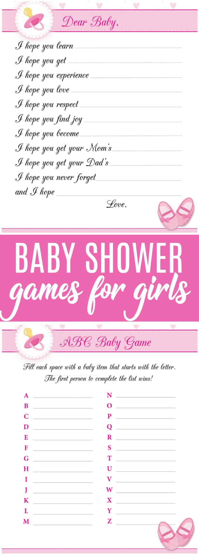 8 Free Printable Baby Shower Games For Girls Simply Stacie