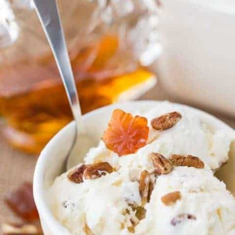 No-Churn Maple Pecan Ice Cream