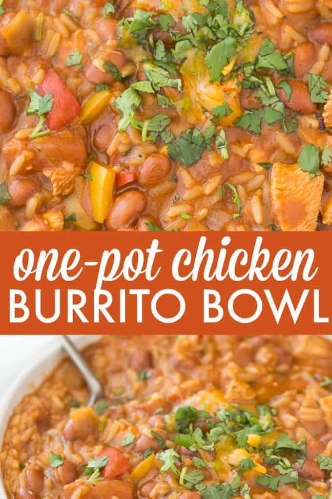 One-Pot Chicken Burrito Bowl - Enjoy a Mexican favourite without the mess! Each bite is bursting with delicious burrito flavour.