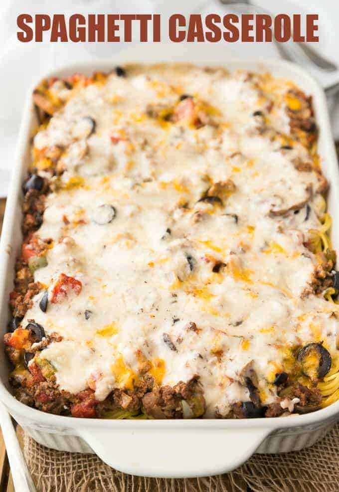 Spaghetti Casserole - My mom made this recipe all the time when I was a kid. It's hearty and filling and tastes just as good the next day.