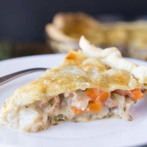 Rustic Bacon, Herb & Vegetable Pie