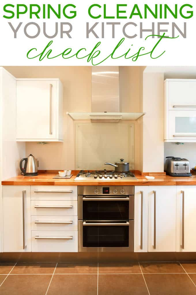 Spring Cleaning Your Kitchen Checklist - Break down a big job into smaller tasks and it won't be that bad, I promise! Plus, I have a free printable for you too.