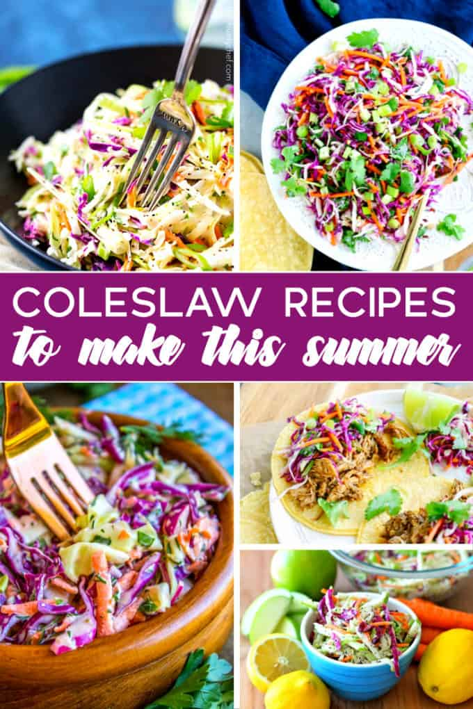 20 Coleslaw Recipes to Make This Summer - Serve up some deliciousness at your next BBQ or picnic!