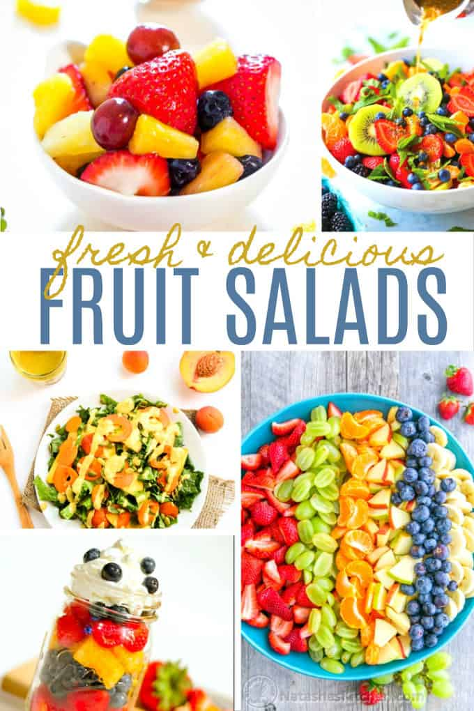 20 Fresh & Delicious Fruit Salads - Cool, sweet and refreshing! Fruit salad is like summer in a bowl.