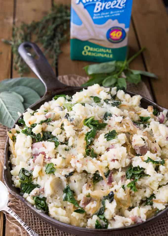 Olive Oil Mashed Potatoes with Kale & Herbs - A twist on a comfort ...