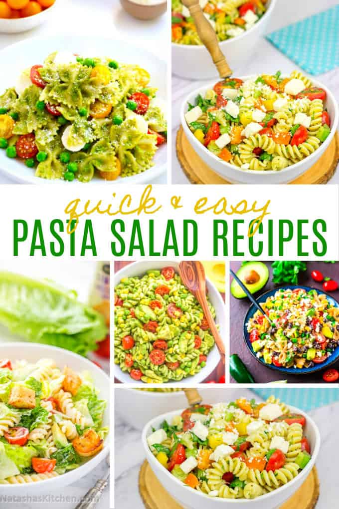 20 Quick & Easy Pasta Salad Recipes - Fire up the grill this summer and serve a delicious pasta salad recipe on the side!