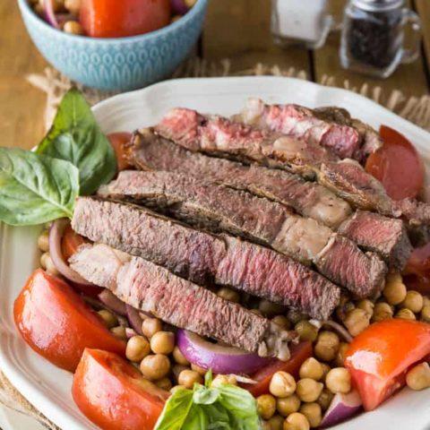 Mediterranean Style Grilled Rib Steak