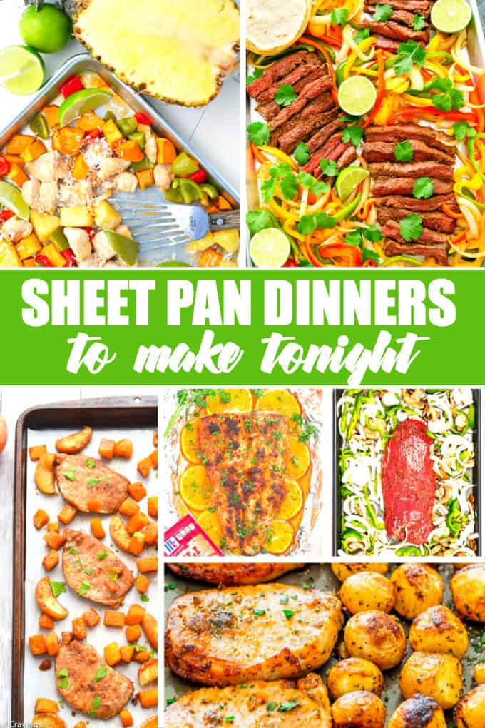 20 Sheet Pan Dinners to Make Tonight - Simple, delicious meals that are a breeze to make and clean up afterwards!