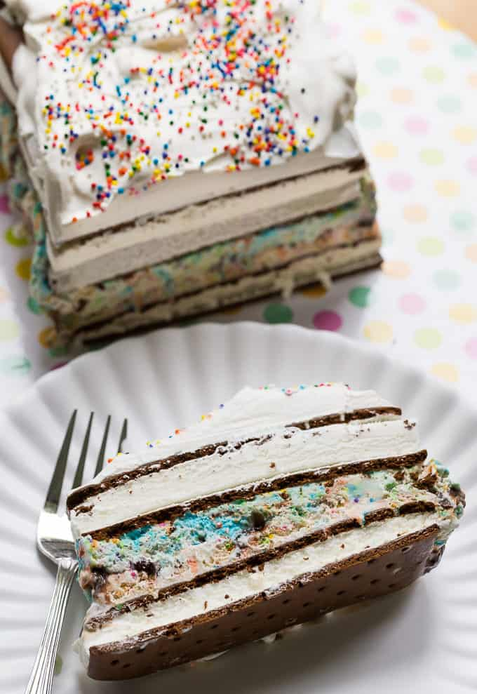 Birthday Bonanza Cake - This cold and creamy ice cream cake will WOW your friends and family.