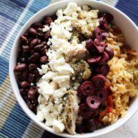 Mediterranean Chicken and Rice Bowl