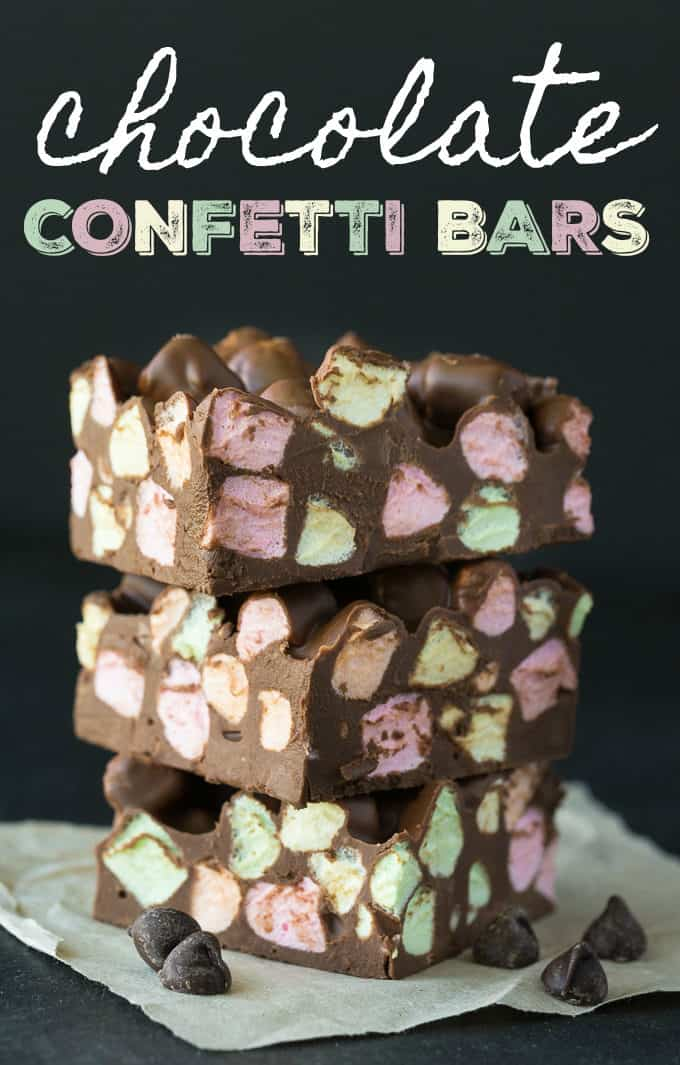 Chocolate Confetti Bars - An easy and delicious vintage recipe! These no-bake bars are a hit at Christmas and great for homemade gifts.
