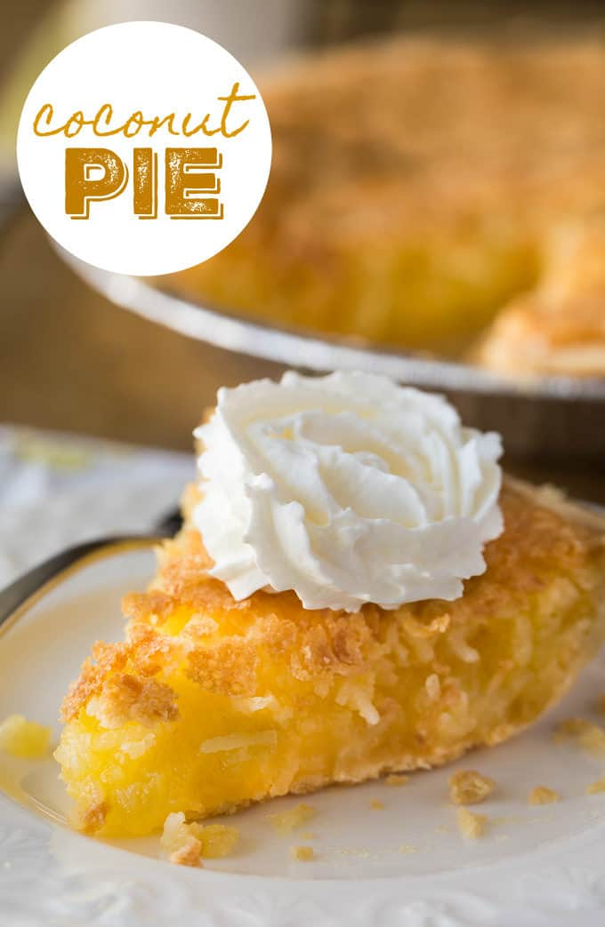 Coconut Pie - A vintage recipe! Delicious taste and great chewy texture with a little sweetened coconut.
