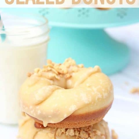 Baked Brown Sugar Glazed Donuts