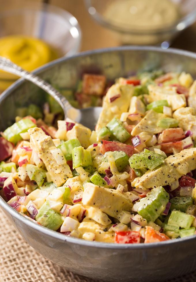 Mustard Chicken Salad - Simply Stacie