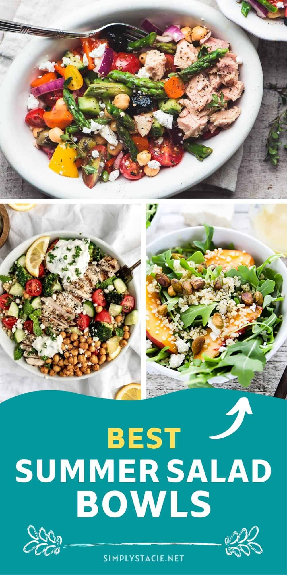 Best Summer Salad Bowls - Fill up on hearty, delicious veggies and satisfy your appetite!