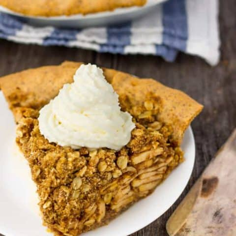 Deep Dish Apple Pie with Crumb Topping