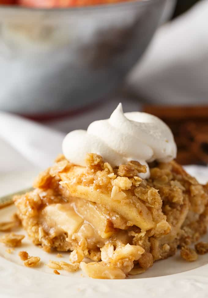 Apple Crisp Bars - This delicious fall dessert is easy to make and guaranteed to be enjoyed by all!
