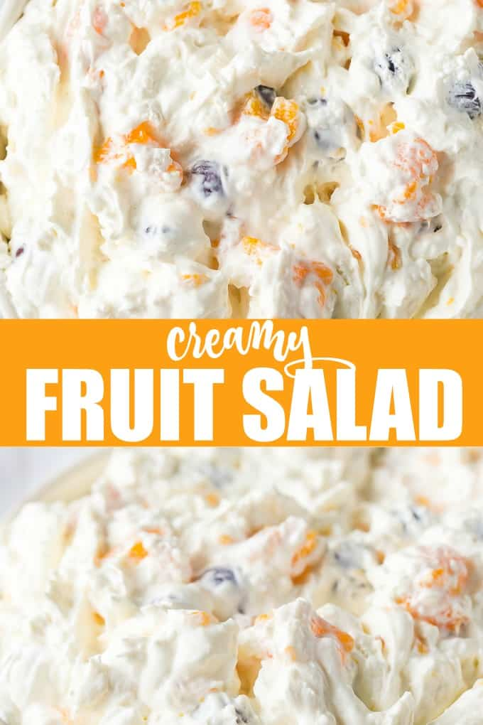 Creamy Fruit Salad - A dreamy salad/dessert that will be a surefire hit! It's easy to make and so tasty to eat.