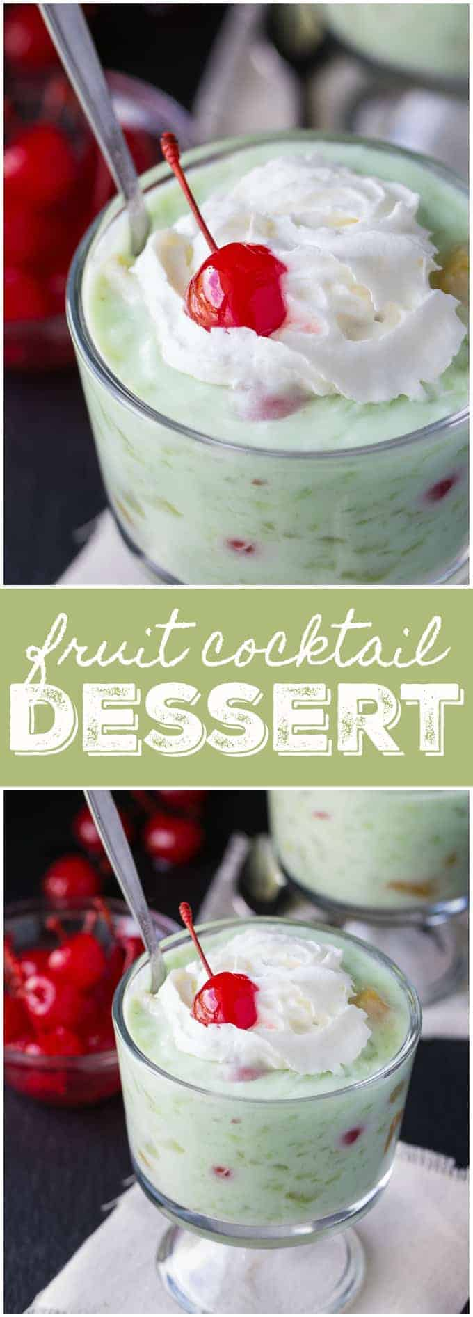 Fruit Cocktail Dessert - Creamy, sweet and full of yummy fruit flavour!