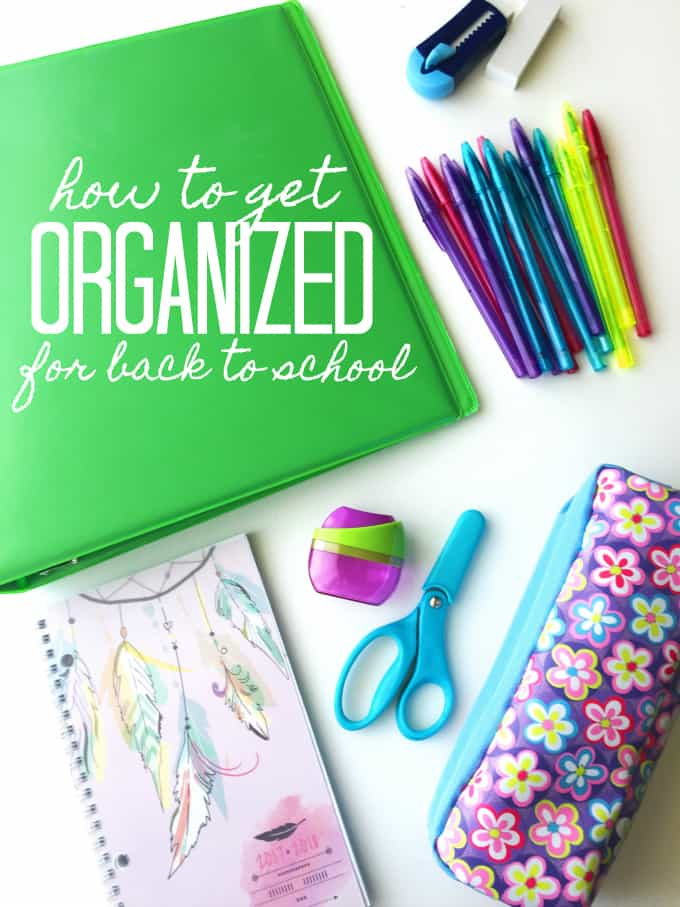 How to Get Organized for Back to School - With a few small tweaks to your routine, you can easily get prepared for the busy season to come!