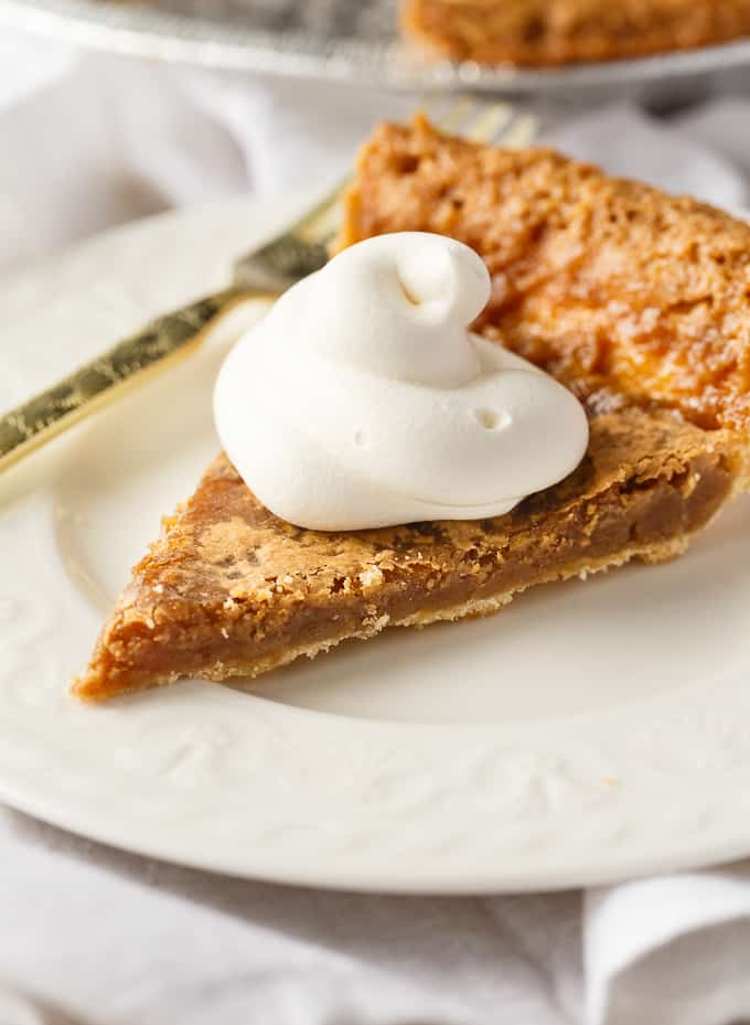 Sugar Pie - Bubbling brown sugar, vanilla, and cream will take you back to grandma's kitchen with this vintage pie.