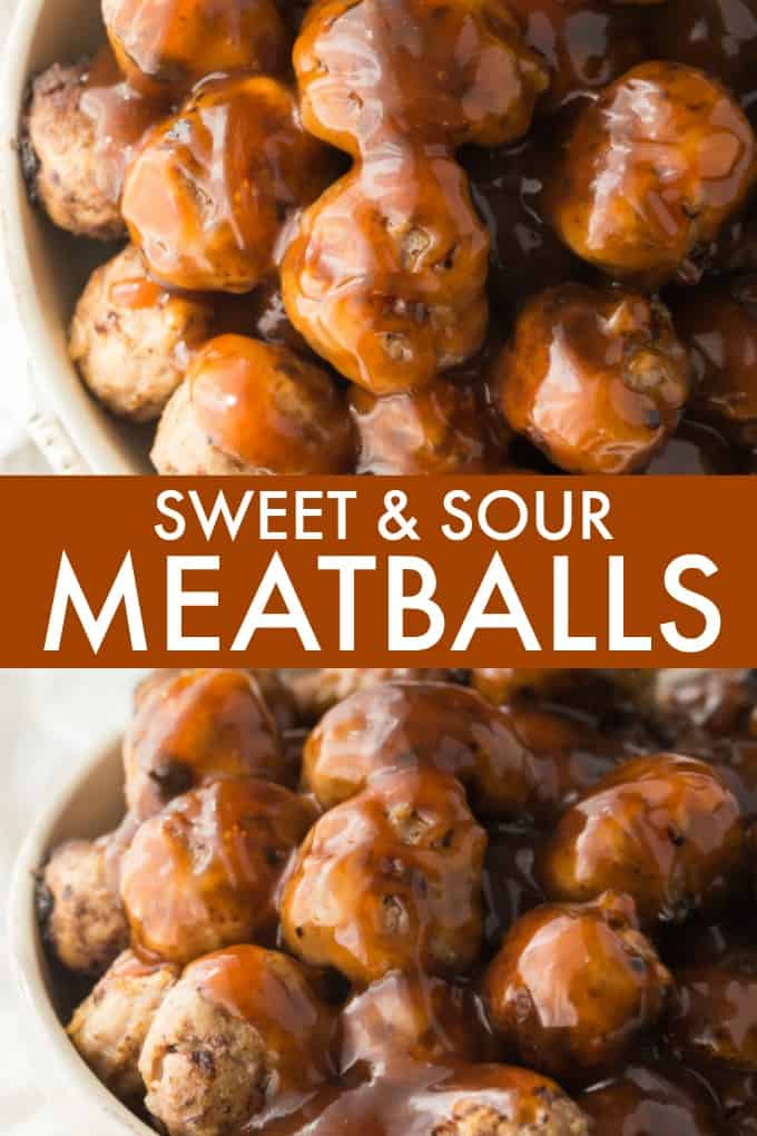 Sweet & Sour Meatballs - Sweet and tangy! Serve as an appetizer or as a meal on a bed of rice.