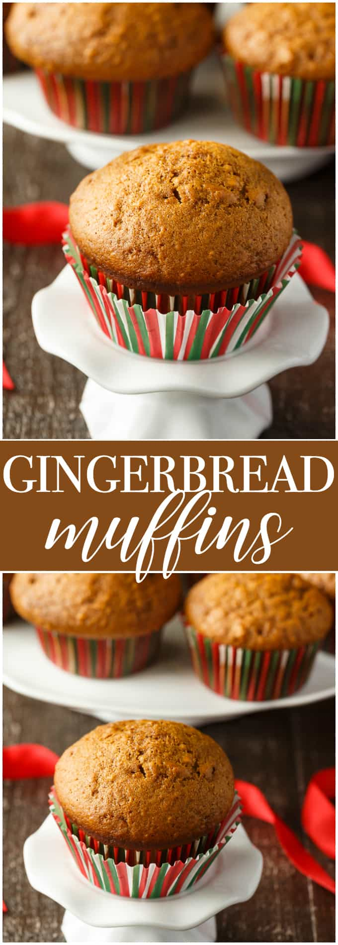 Gingerbread Muffins - Have a festive muffin for breakfast! These easy holiday muffins are sweet and spicy, perfect with coffee.