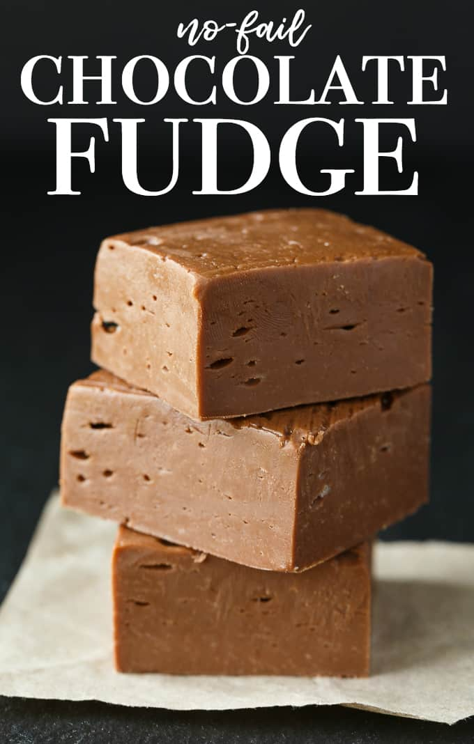 No-Fail Chocolate Fudge - Sweet, chocolatey and melt in your mouth good. You can't screw this easy recipe up!