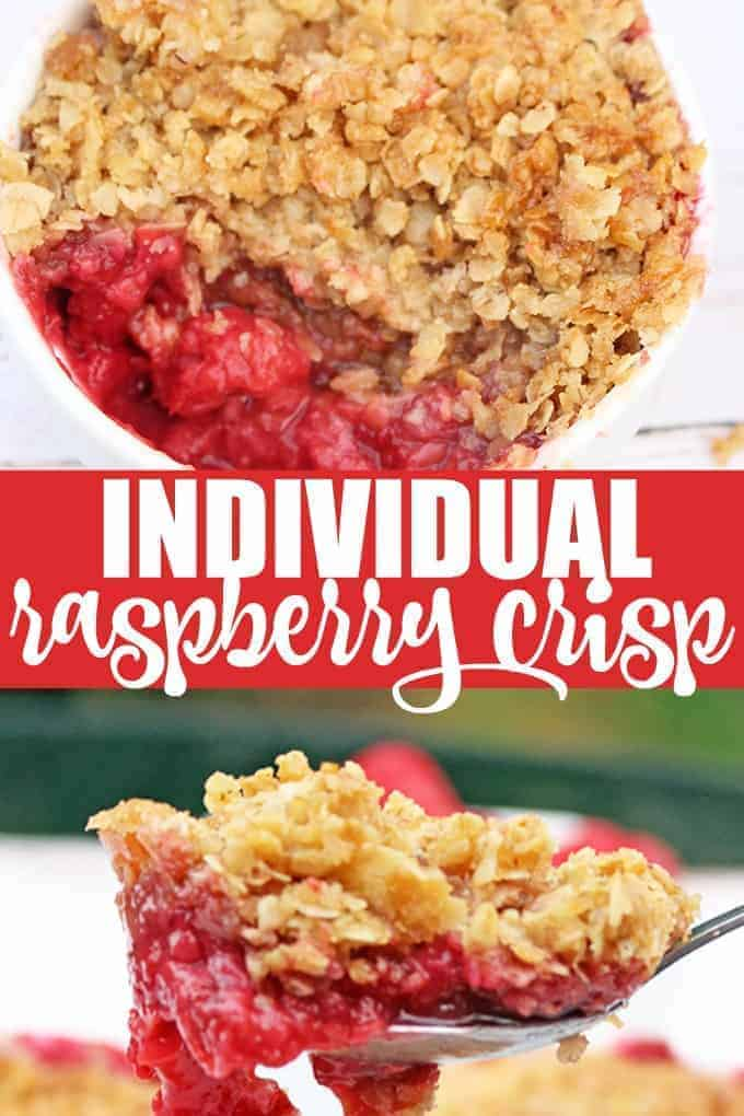 Individual Raspberry Crisp - So easy to make and loved by all!