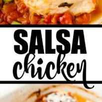 Salsa Chicken - Moist, tender and flavourful. This easy recipe makes a delicious weeknight meal for when you are short on time.