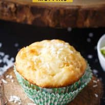 Pina Colada Muffins - Enjoy the tropical flavours of Pina Coladas as breakfast or an afternoon snack.