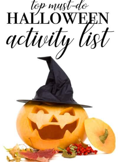 Top MUST DO Halloween Activity List