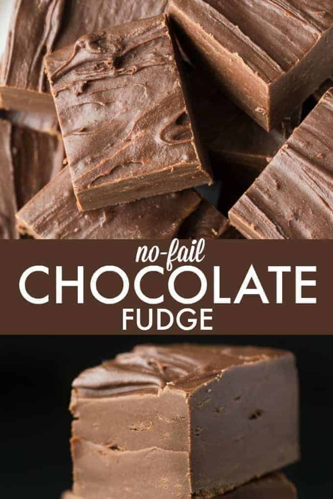 No-Fail Chocolate Fudge - No-Fail Chocolate Fudge - Sweet, chocolatey and melt in your mouth good. You can't screw this easy recipe up!