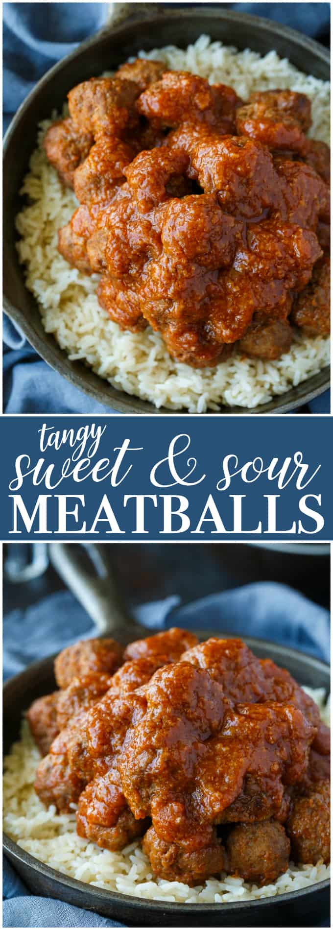 Tangy Sweet and Sour Meatballs - These delicious and freezer-friendly meatballs are simmered in a mouthwatering sauce for the easiest recipe ever! Serve over rice or on toothpicks for a tantalizing appetizer.