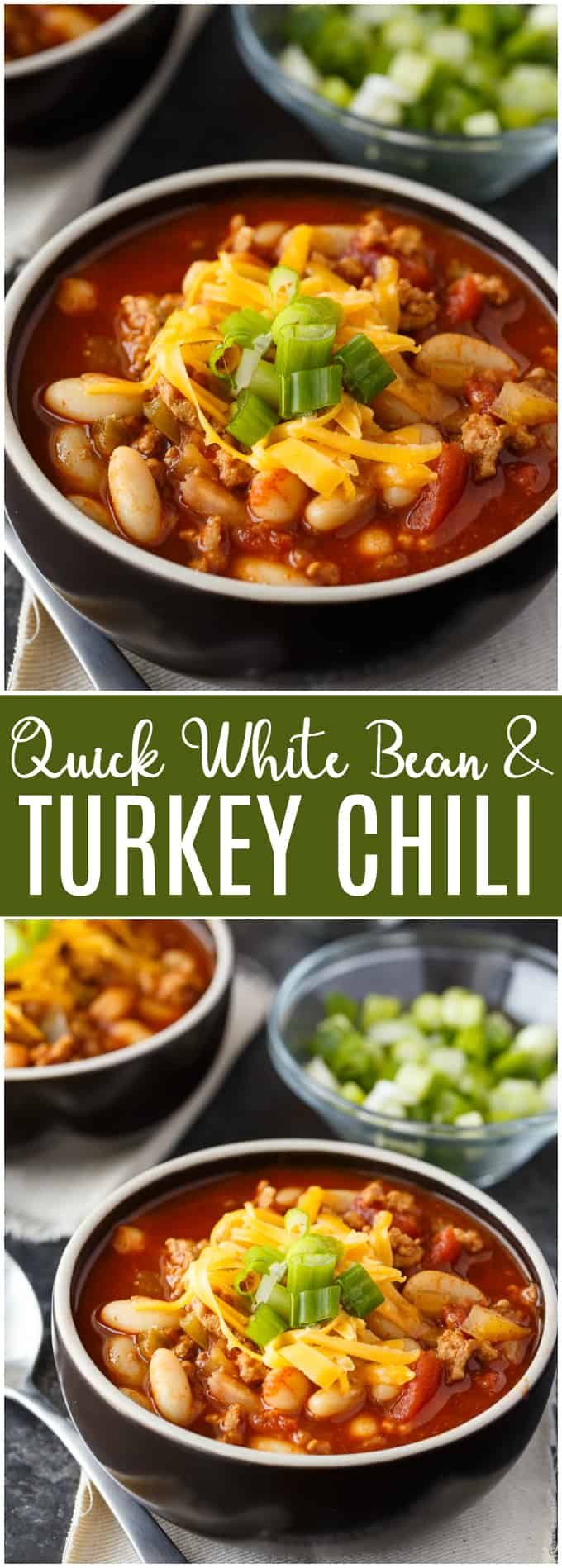 Quick White Bean & Turkey Chili – This Instant Pot chili is easy to make and so delicious! Find more Instant Pot recipes in the How to Instant Pot cookbook from Workman Publishing. #HowtoInstantPot #ad