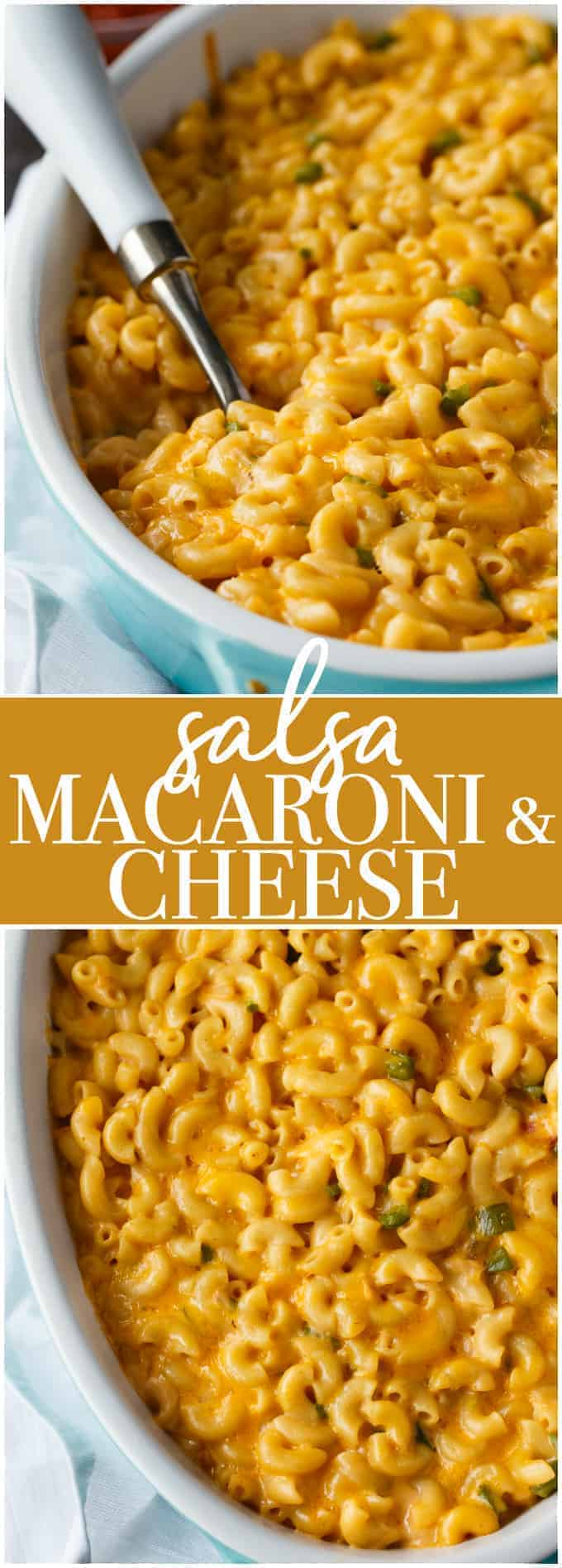 Salsa Macaroni & Cheese - Creamy, cheesy with a bit of a kick! This recipe will easily become a family favourite.
